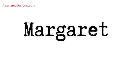 Typewriter Name Tattoo Designs Margaret Free Download