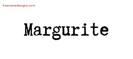 Typewriter Name Tattoo Designs Margurite Free Download
