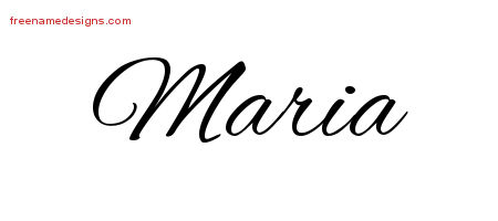 Cursive Name Tattoo Designs Maria Free Graphic
