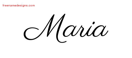Classic Name Tattoo Designs Maria Printable