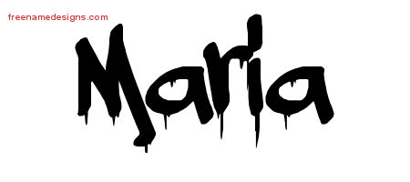 Graffiti Name Tattoo Designs Maria Free
