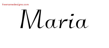Elegant Name Tattoo Designs Maria Free Graphic