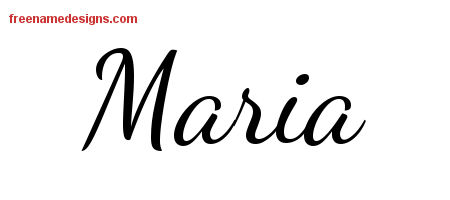 Lively Script Name Tattoo Designs Maria Free Download
