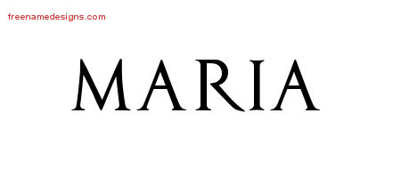 Regal Victorian Name Tattoo Designs Maria Graphic Download