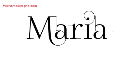 Decorated Name Tattoo Designs Maria Free