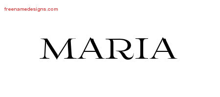 Flourishes Name Tattoo Designs Maria Printable