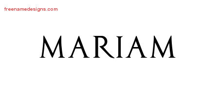 mariam Archives - Free Name Designs