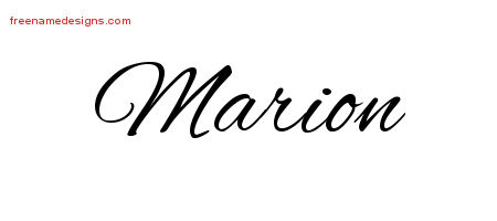 Cursive Name Tattoo Designs Marion Download Free