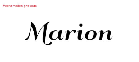 Art Deco Name Tattoo Designs Marion Printable