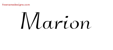 Elegant Name Tattoo Designs Marion Download Free