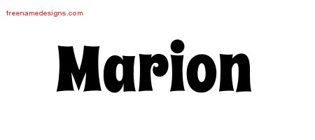 Groovy Name Tattoo Designs Marion Free