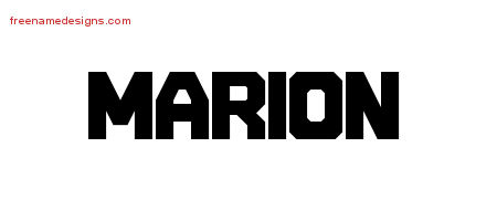 Titling Name Tattoo Designs Marion Free Printout