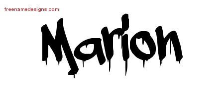 Graffiti Name Tattoo Designs Marion Free Lettering