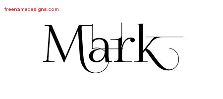Mark Decorated Name Tattoo Designs