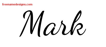 Mark Lively Script Name Tattoo Designs