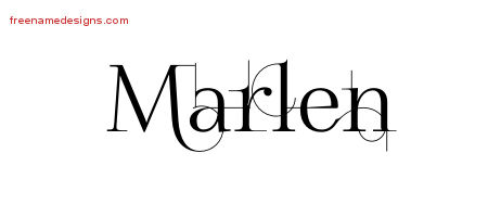 Decorated Name Tattoo Designs Marlen Free