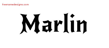 Gothic Name Tattoo Designs Marlin Download Free