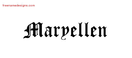 Blackletter Name Tattoo Designs Maryellen Graphic Download