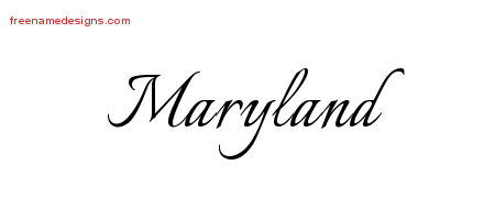 Calligraphic Name Tattoo Designs Maryland Download Free