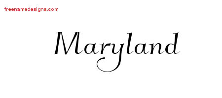 Elegant Name Tattoo Designs Maryland Free Graphic