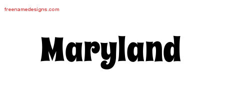 Groovy Name Tattoo Designs Maryland Free Lettering