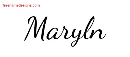 Lively Script Name Tattoo Designs Maryln Free Printout