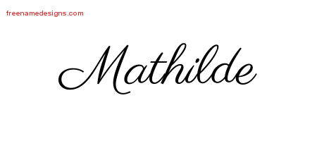 Classic Name Tattoo Designs Mathilde Graphic Download - Free ...