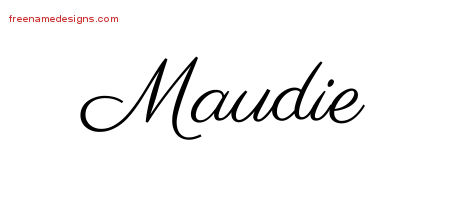 Classic Name Tattoo Designs Maudie Graphic Download