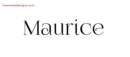 Vintage Name Tattoo Designs Maurice Free Printout
