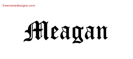 meagan Archives - Free Name Designs