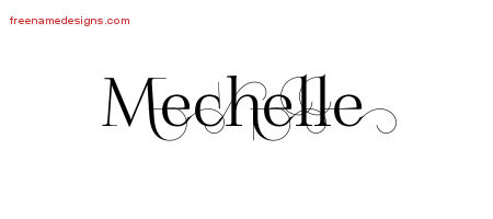 Decorated Name Tattoo Designs Mechelle Free