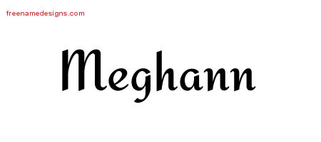 Calligraphic Stylish Name Tattoo Designs Meghann Download Free
