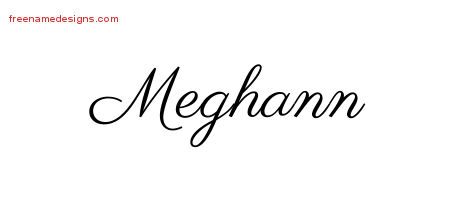 Classic Name Tattoo Designs Meghann Graphic Download