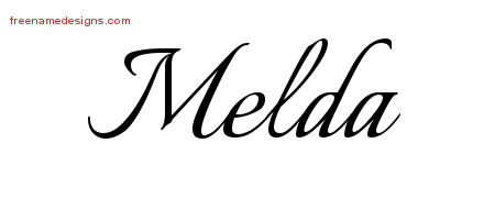Calligraphic Name Tattoo Designs Melda Download Free
