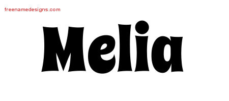 Groovy Name Tattoo Designs Melia Free Lettering
