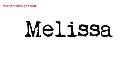 Blackletter Name Tattoo Designs Melissa Graphic Download ...