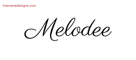 Classic Name Tattoo Designs Melodee Graphic Download