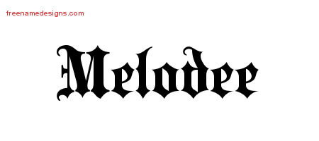 Old English Name Tattoo Designs Melodee Free