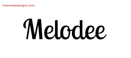 Handwritten Name Tattoo Designs Melodee Free Download