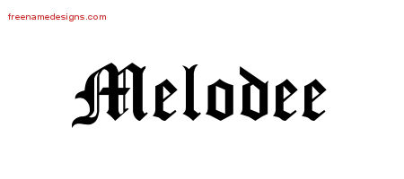 Blackletter Name Tattoo Designs Melodee Graphic Download