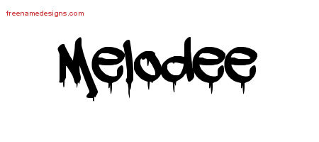 Graffiti Name Tattoo Designs Melodee Free Lettering