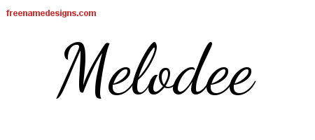 Lively Script Name Tattoo Designs Melodee Free Printout