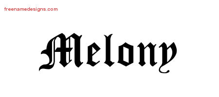 Blackletter Name Tattoo Designs Melony Graphic Download