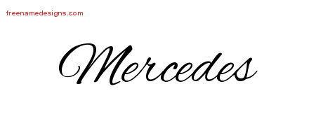 Cursive Name Tattoo Designs Mercedes Download Free