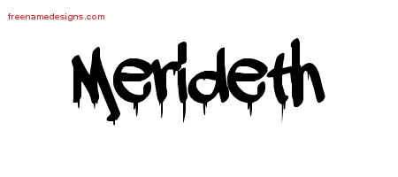 Graffiti Name Tattoo Designs Merideth Free Lettering