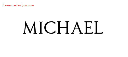 Regal Victorian Name Tattoo Designs Michael Graphic Download