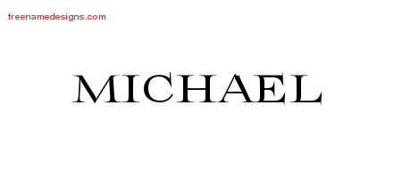 Flourishes Name Tattoo Designs Michael Printable