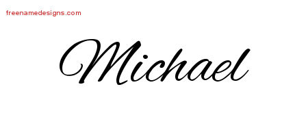 Cursive Name Tattoo Designs Michael Free Graphic