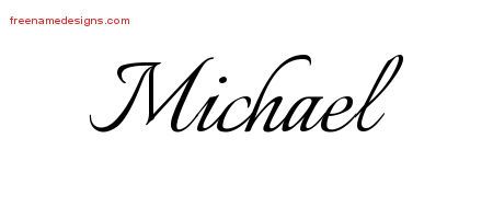 Calligraphic Name Tattoo Designs Michael Download Free