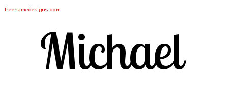 Handwritten Name Tattoo Designs Michael Free Download
